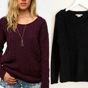 Anthro Coincidence & Noise Speckled Cable Sweater